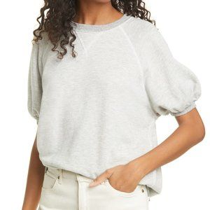 THE GREAT. Short Sleeve Puff Sweatshirt Top 1 S